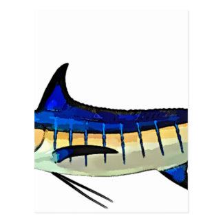 Customize this Marlin with your Boat Name Postcard