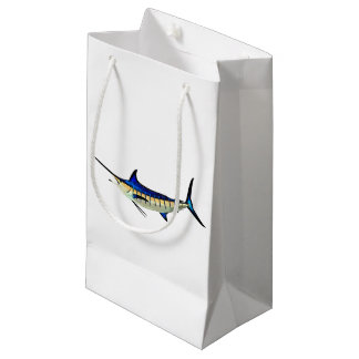 Customize this Marlin with your Boat Name Small Gift Bag