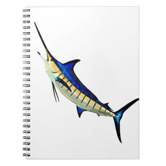 Customize this Marlin with your Boat Name Spiral Notebook