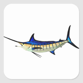 Customize this Marlin with your Boat Name Square Sticker