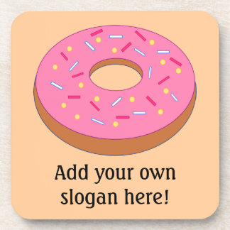 Customize this Ring Doughnut Graphic Drink Coaster