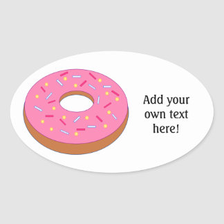 Customize this Ring Doughnut Graphic Oval Sticker