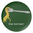 Customize this Spaghetti Pasta graphic Plate