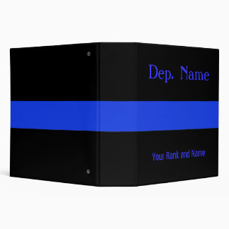 Customize this Thin Blue Line Binder