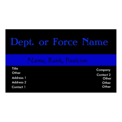 Customize this ThinBlueLine Business Card