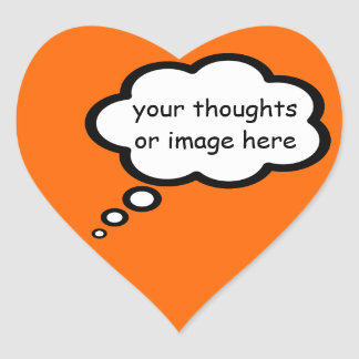 customize thought cartoon balloon heart sticker