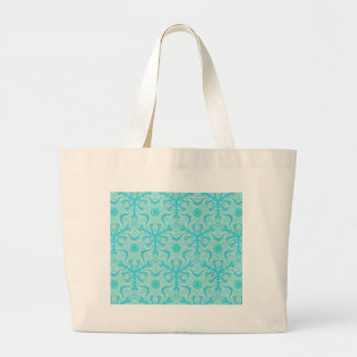 Customize Turquise Cool Seamless Pattern Backgroun Large Tote Bag