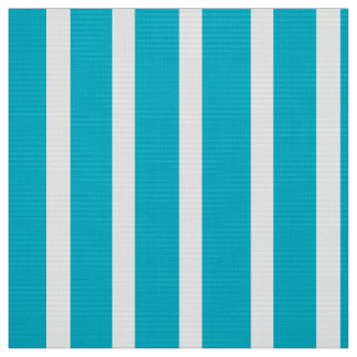 Customize Turquoise and White Fabric by the Yard