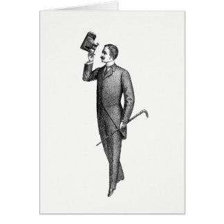 Customize Victorian Gentleman Selfie Card