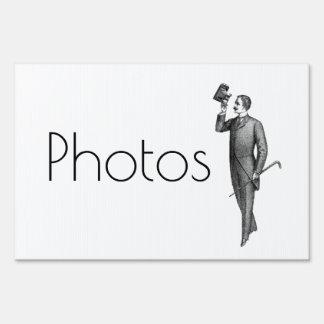 Customize Victorian Gentleman Selfie Photos Sign