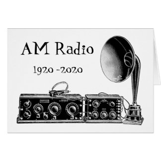 Customize Vintage AM Radio Receiver Card