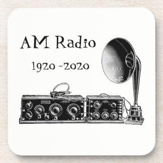 Customize Vintage AM Radio Receiver Coaster