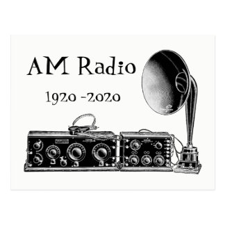 Customize Vintage AM Radio Receiver Postcard