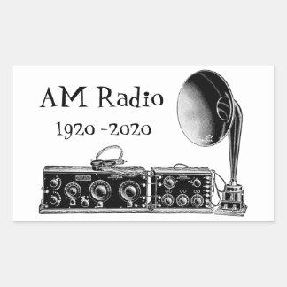 Customize Vintage AM Radio Receiver Sticker