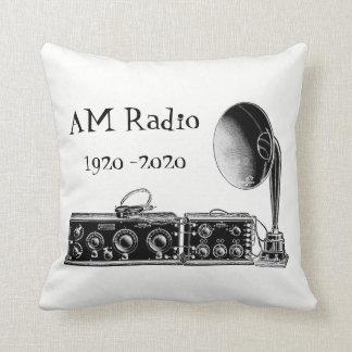 Customize Vintage AM Radio Receiver Throw Pillow