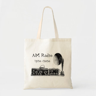 Customize Vintage AM Radio Receiver Tote Bag