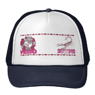 Customize Virgo Scorpio friendship design Trucker Hat