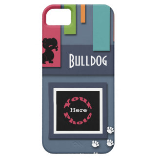 Customize w/ Your Dog Photo - Bulldog Themed iPhone 5 Case