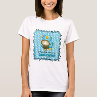 Customize W/ Your Twitter Name Coffee Bird T-Shirt