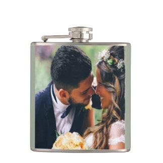 Customize Wedding Couple Photo Gift Hip Flask