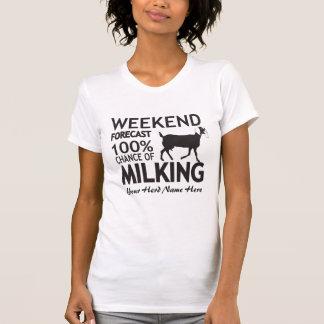 CUSTOMIZE Weekend Forecast Milking Nubian Goat T Shirts