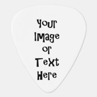 Customize with personalized pictures and text guitar pick