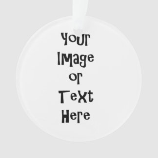 Customize with personalized pictures and text ornament