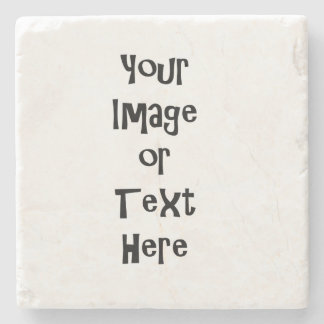 Customize with personalized pictures and text stone coaster