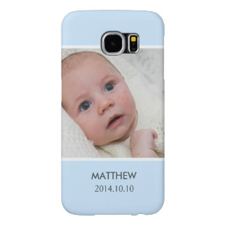Customize with Your Boy Baby Photo - Blue Stylish Samsung Galaxy S6 Cases