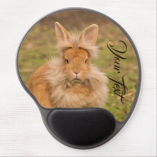 Customize with your own text cute hare/rabbit gel mouse pad
