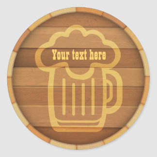 Customize Your Beer Classic Round Sticker