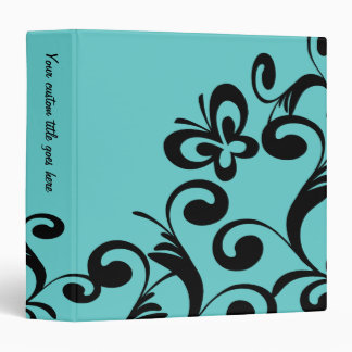 Customize your color butterfly swirls avery binder