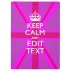 Customize Your Keep Calm Edit Text on Pink Union J Clipboard