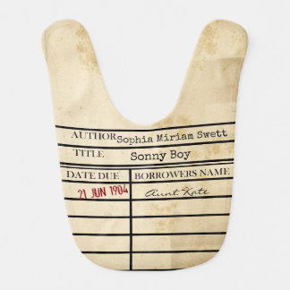 Customize Your Library Due Date Baby Bib-Sonny Boy Bib