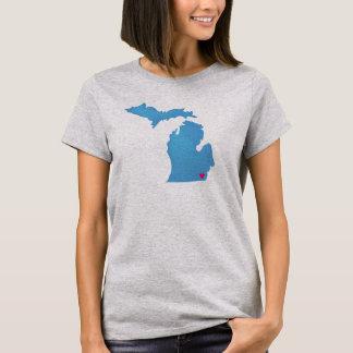 Customize Your Michigan Heart shirt