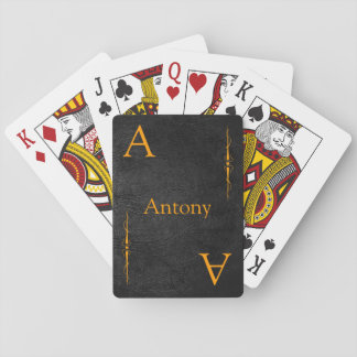 Customize your Name and Initial Playing Cards