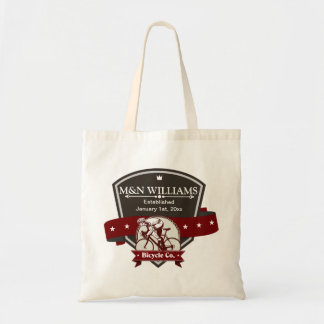 Customize Your Name Bicycle Company Logo Budget Tote Bag