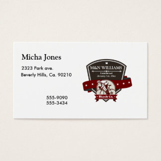 Customize Your Name Bicycle Company Logo Business Card