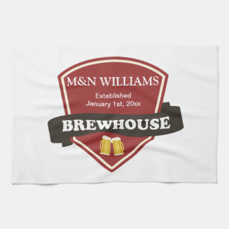 Customize Your Name Brewhouse Logo Kitchen Towel