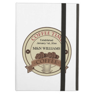 Customize Your Name Coffee Time Logo iPad Air Cover