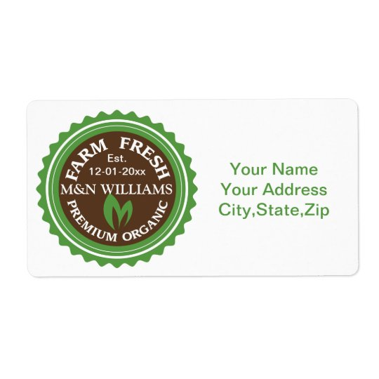 Customize Your Name Organic Farm Logo