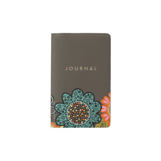 Customize Your Notebook Cover Abstract Flowers