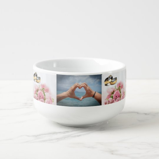 Customize Your Own 7 Photo Collage Soup Mug