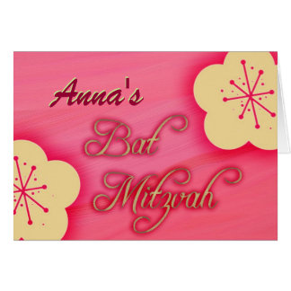 Customize your own Bat Mitzvah invitation