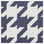Customize your own bold blue white houndstooth fabric