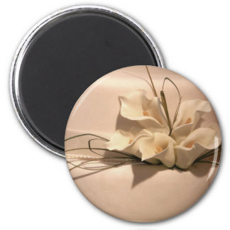 Customize your own calla lily 2 inch round magnet