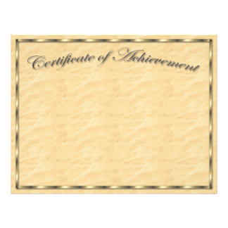 Customize Your Own Certificate of Achievement Flyer