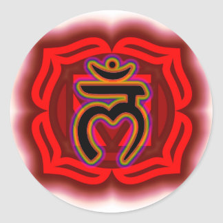 Customize Your Own Chakra Root Chakra Classic Round Sticker