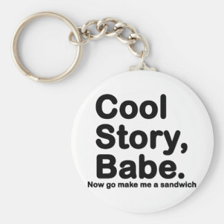 Customize Your Own Cool Story Bro Babe Keychain