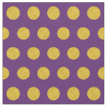 Customize your own gold polka dots in purple fabric